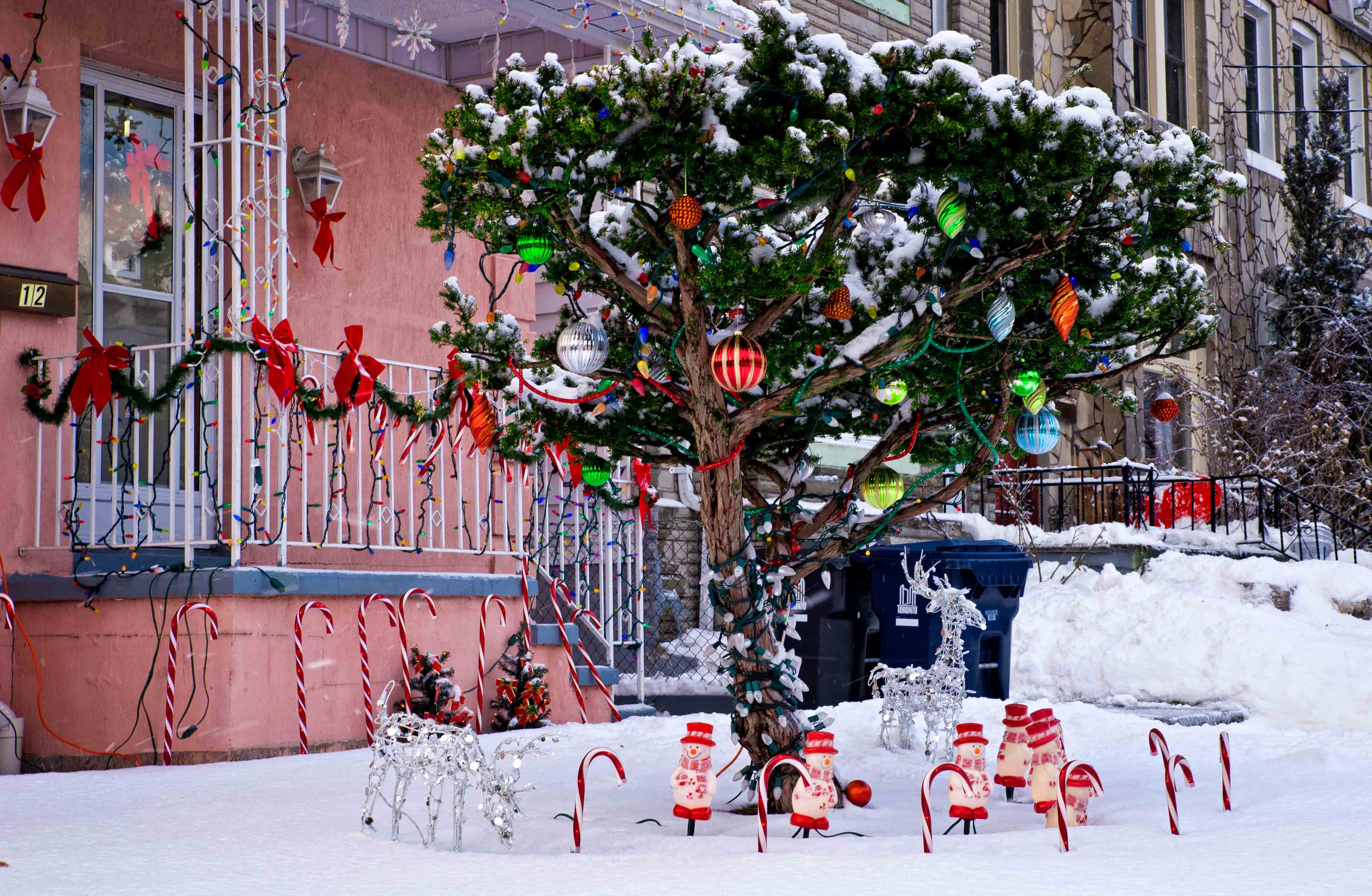 Christmas tree and Snowmen